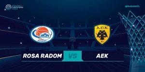 BCL: Rosa Radom v AEK @ Narutowicza 9
