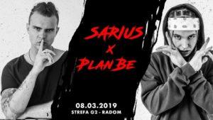 Koncert Sarius x PlanBe @ Klub Strefa G2