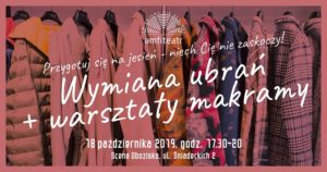Wymiana ubrań i warsztaty makramy @ Scena Obozisko